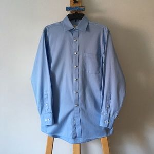 NWOT Men's MICHAEL KORS Blue Button Down Shirt